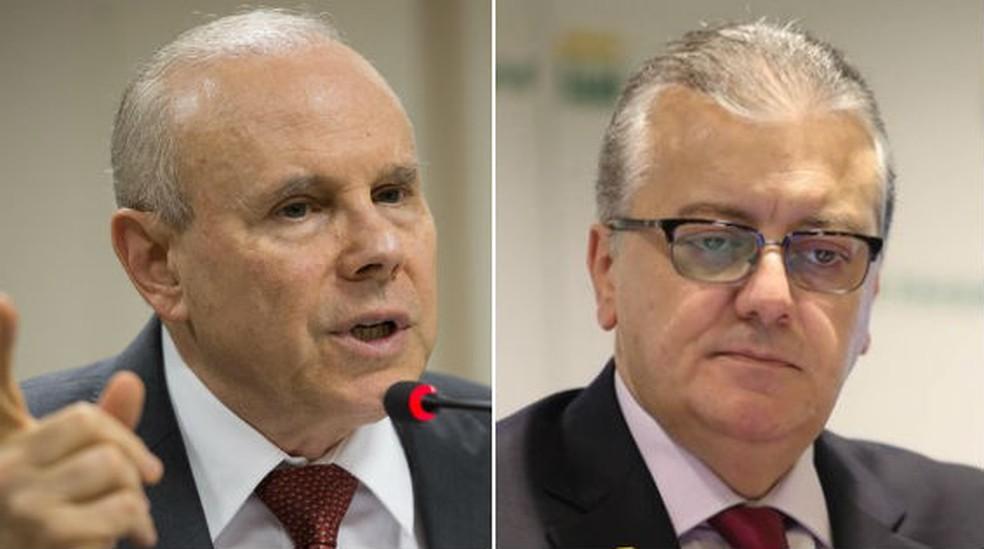 Mantega e Bendine — Foto: Fabio Rodrigues Pozzebom/Agência Brasil; Fábio Motta/Estadão Conteúdo/Arquivo