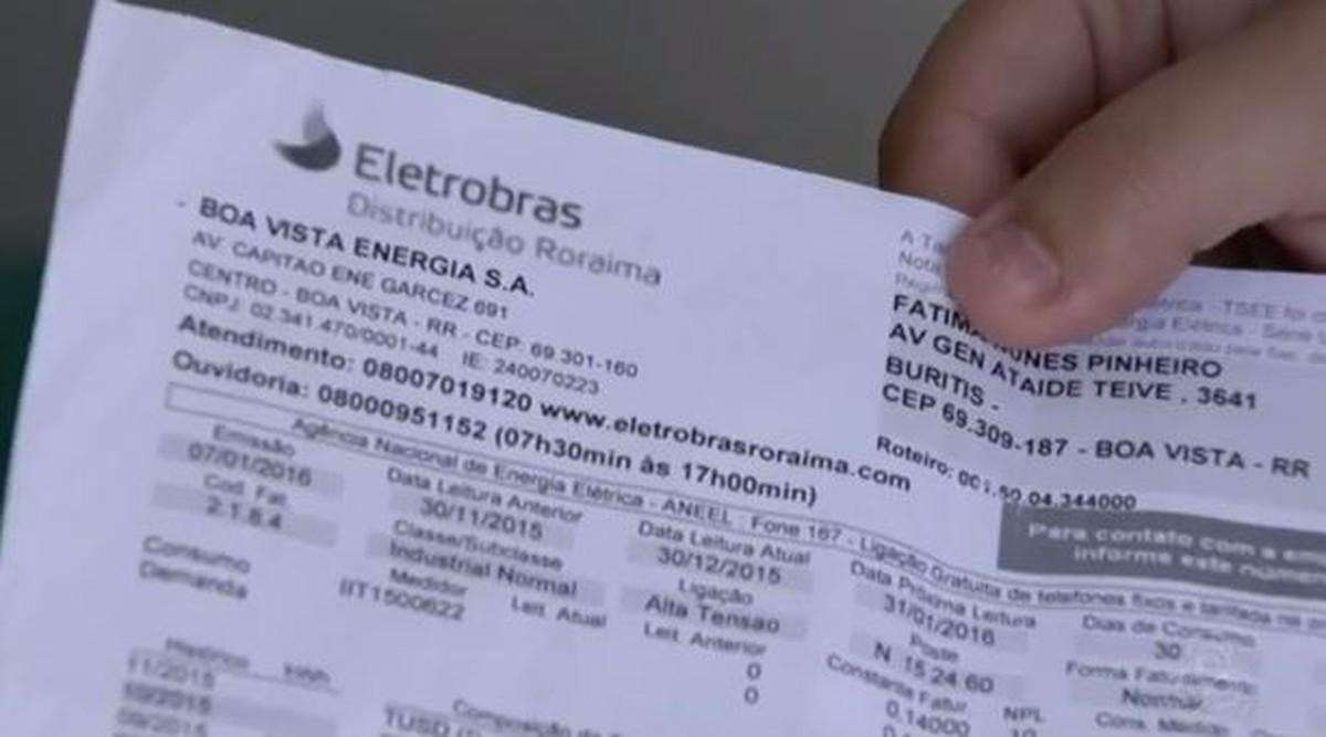 Conta de energia de residências de Roraima tem reajuste de 35,30%, diz Eletrobras