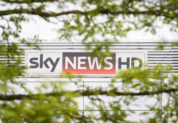 Estúdio da Sky News, em Londres (Foto: Leon Neal/Getty Images)