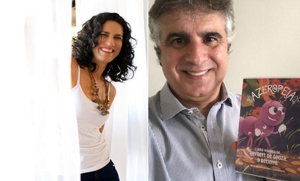 Regina Souza e Paulo Spósito com o DVD A Zeropeia (Foto: Divulgação)