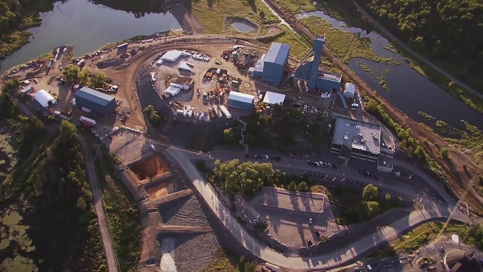 Imagem área da mina de Totten, no Canadá — Foto: Vale/Divulgação
