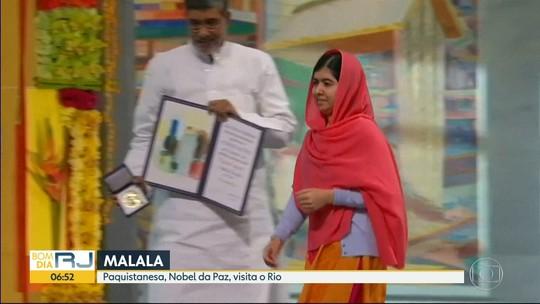 Malala visita o Rio de Janeiro