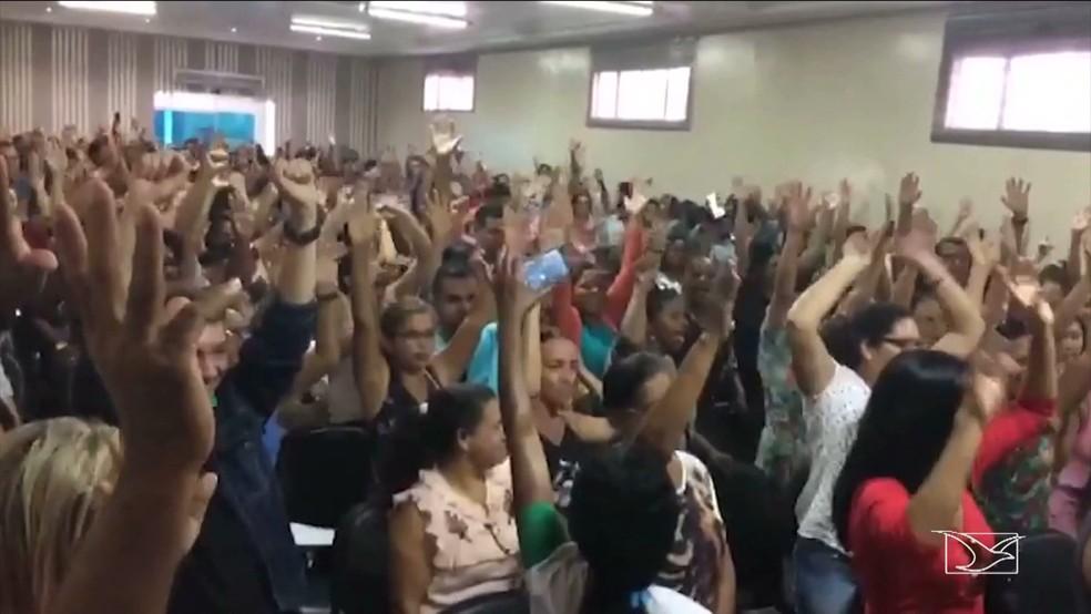 Professores de Santa Inês decidem entrar em greve no Maranhão. (Foto: Reprodução/TV Mirante)