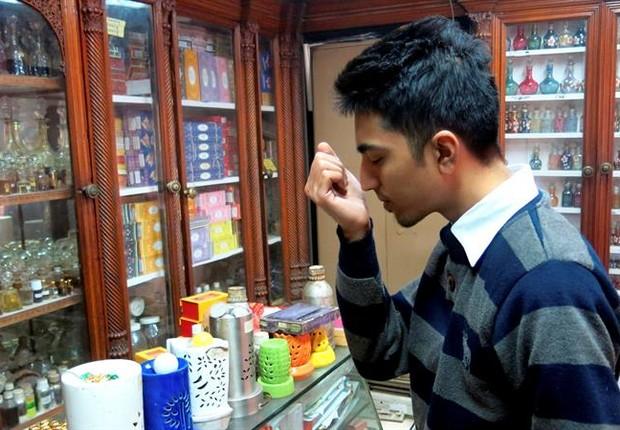 Perfumaria Gulab Singh Johrimal, dedicada a perfumes tradicionais indianos  (Foto: EFE)