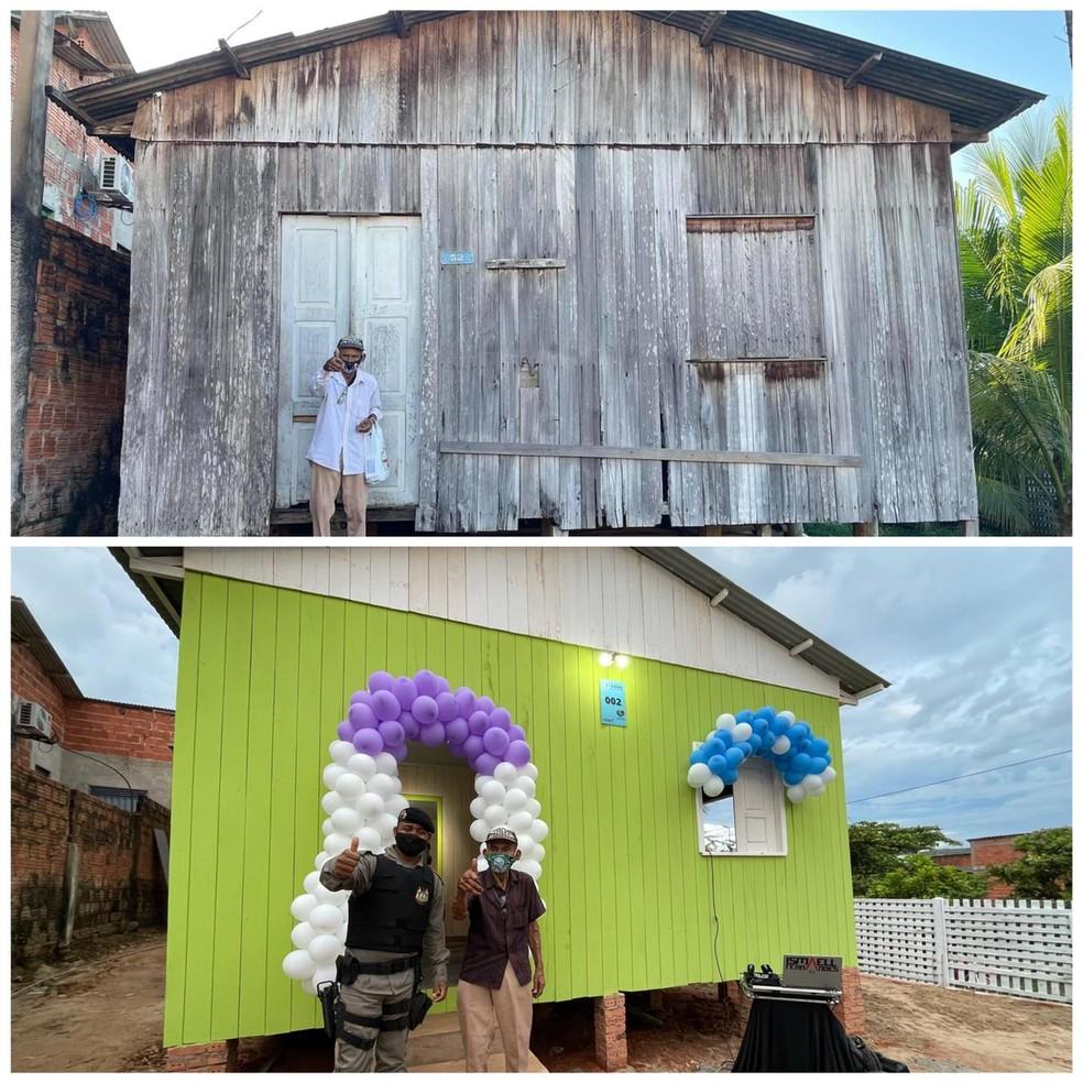 Casa foi entregue no sábado (5), em Rio Branco — Foto: Arquivo pessoal