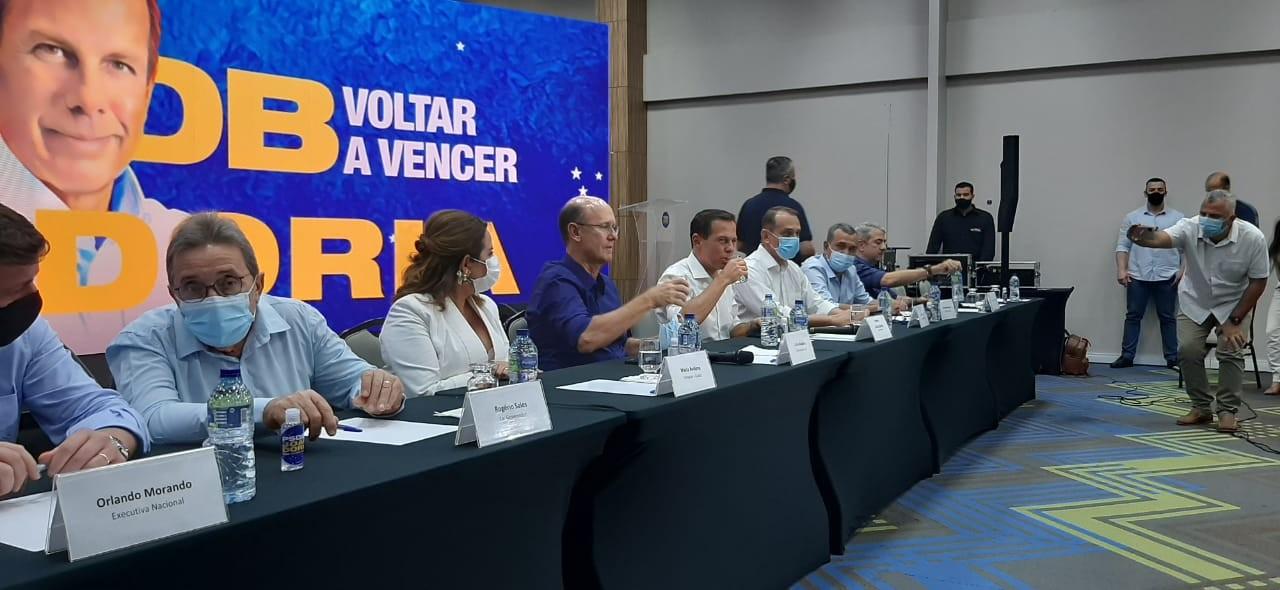 Governador de SP chega em Cuiabá para discutir com PSDB candidatos à presidência do país em 2022