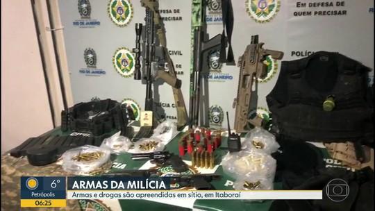 Operação apreende armas e drogas em Itaboraí