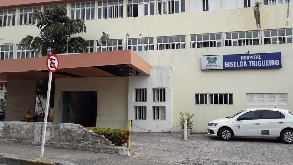 Hospital Giselda Trigueiro, na Zona Oeste de Natal, é referência em infectologia — Foto: Julianne Barreto/Inter TV Cabugi