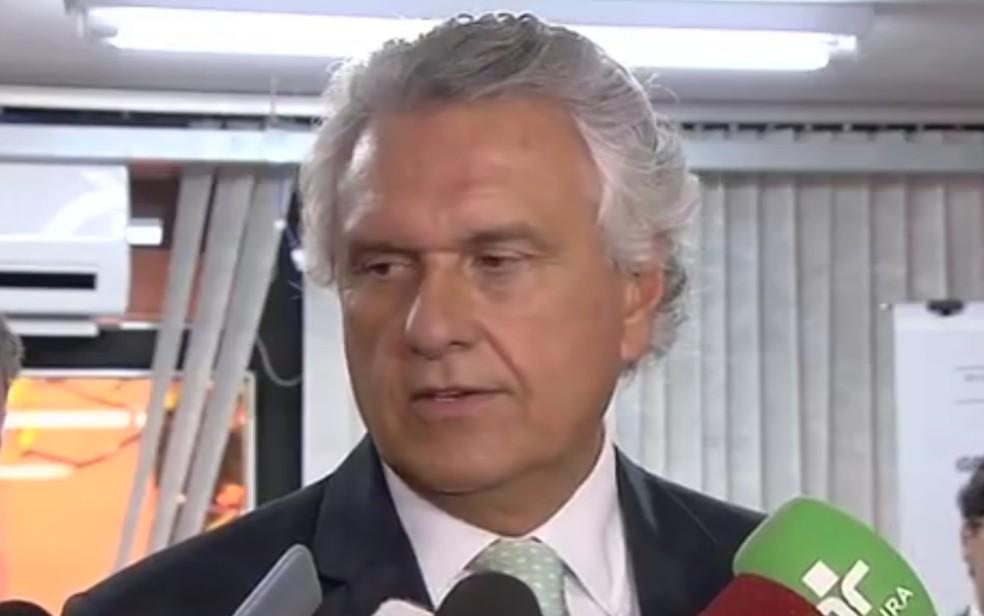 Governador de Goiás Ronaldo Caiado (DEM) — Foto: Reprodução/TV Anhanguera