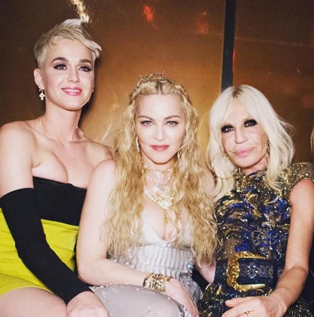 Katy Perry, Madonna e Donatella Versace (Foto: Reprodução / Instagram)