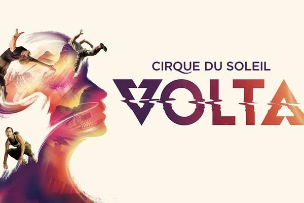 Arte do espetáculo VOLTA, no qual se feriu o acrobata (Foto: Divulgação)