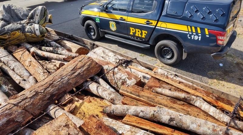 Carga com madeira nativa sem licença é apreendida em rodovia no sudoeste da Bahia