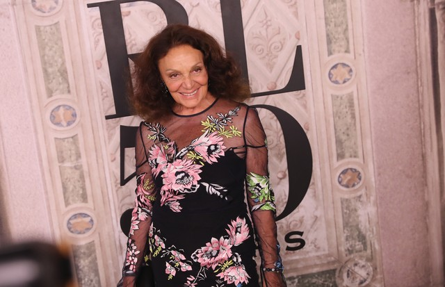 NEW YORK, NY - SEPTEMBER 07:  Diane von Furstenberg attends the Ralph Lauren fashion show during New York Fashion Week at Bethesda Terrace on September 7, 2018 in New York City.  (Photo by Rob Kim/Getty Images) (Foto: Getty Images)