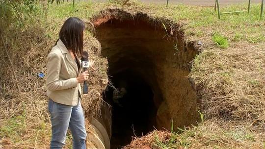 Desmoronamento de terra forma 'túnel' em rodovia de Porto Feliz