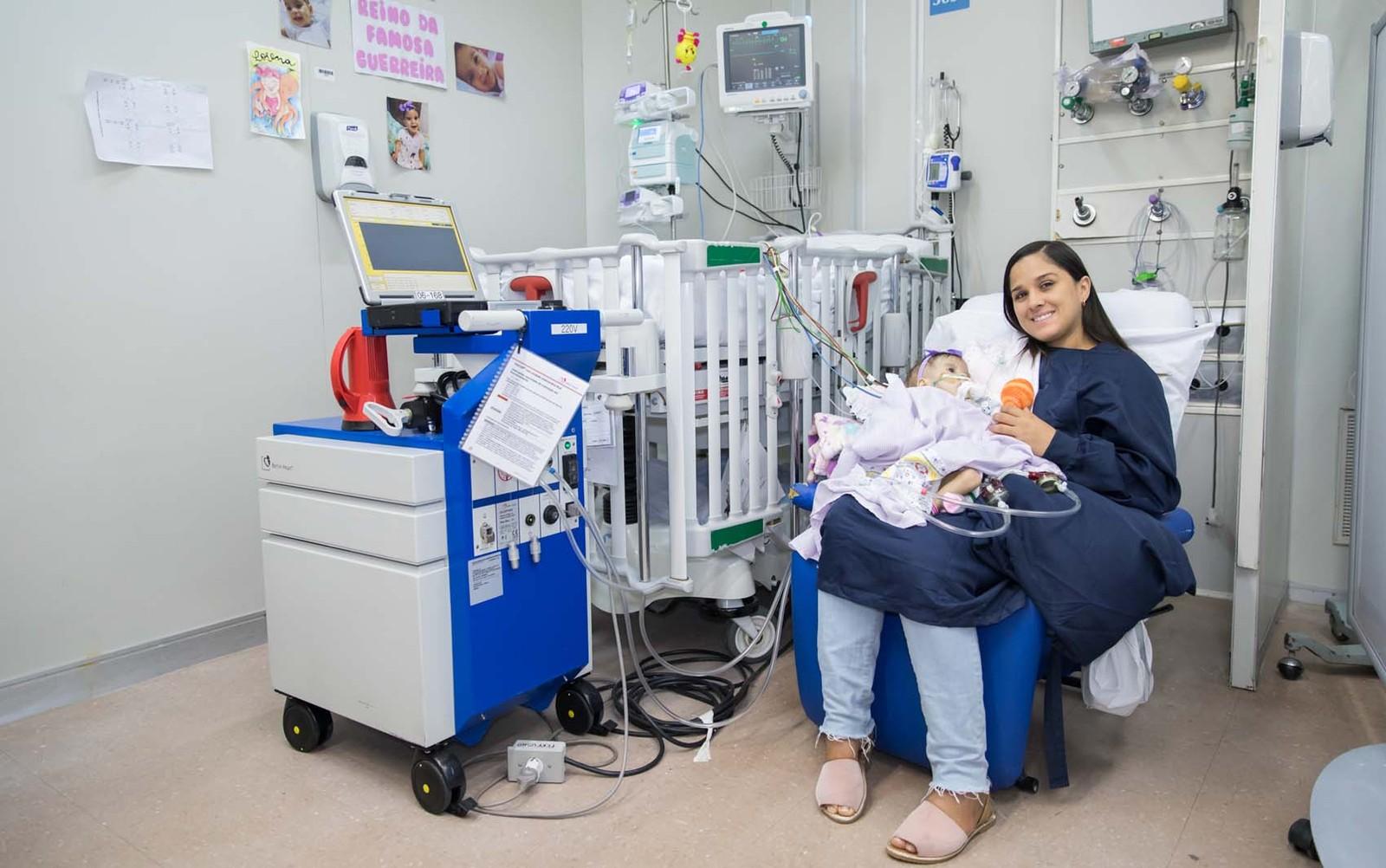 Menina recebe transplante de coração