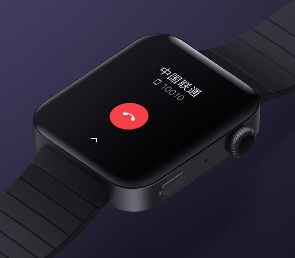 Mi Watch da Xiaomi tem design idêntico ao Apple Watch 5 — Foto: Reprodução/Xiaomi