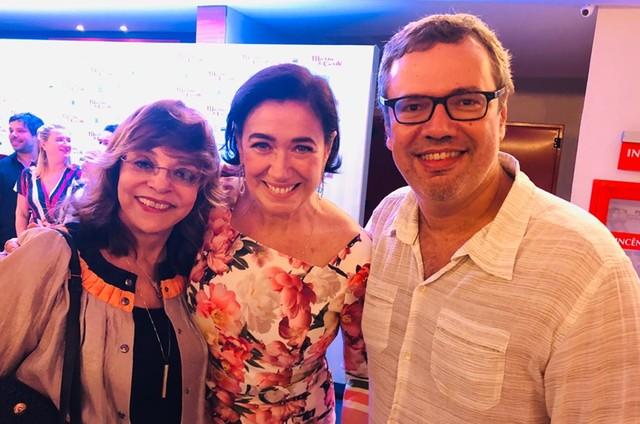 Lilia Cabral entre Gloria Perez e João Emanuel Carneiro (Foto: Arquivo pessoal)