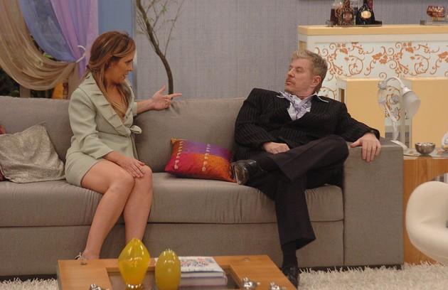 Com Adriana Esteves em 'Toma lá dá cá', humorístico exibido pela Globo de 2007 a 2009 (Foto: Thiago Prado Neris)