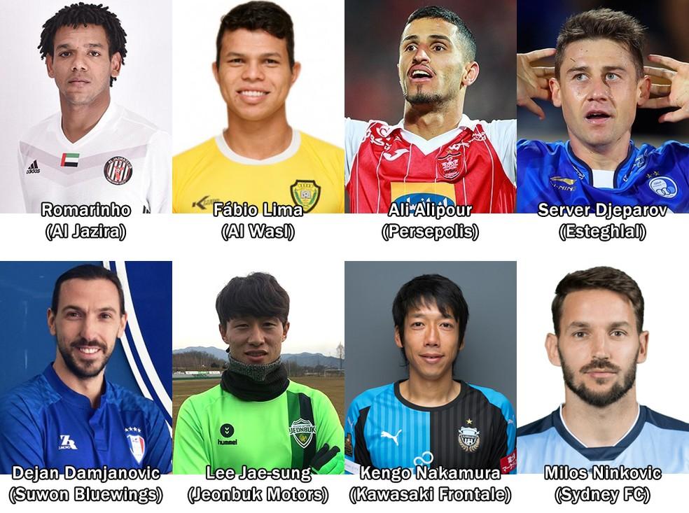 Jogadores em destaque na edição 2018 da Liga dos Campeões da Ásia (Foto: Futebol no Japão)