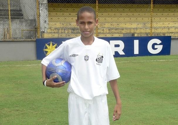Neymar quando criança (Foto: Reprodução)