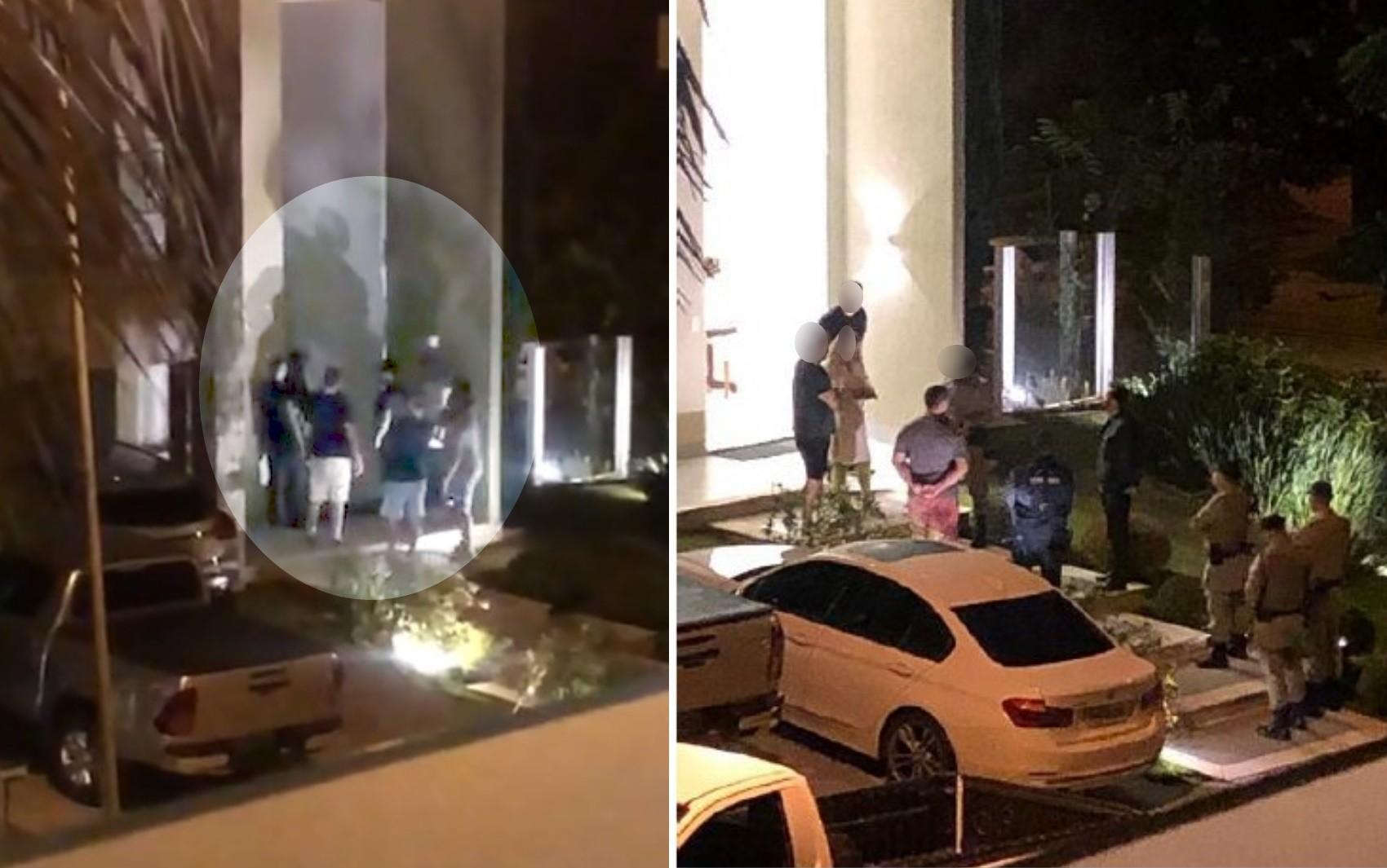 Fotos mostram confusão entre cantor Jefferson Moraes e vizinhos após discussão por causa de festas em condomínio de Goiânia