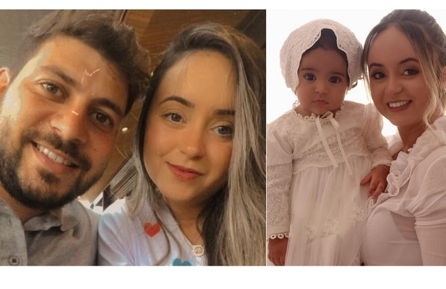 Walleria Motta, noiva de Caio Afiune, já tem quase cinco mil seguidores. Eles são pais de Manuella, de 10 meses (Foto: Reprodução)