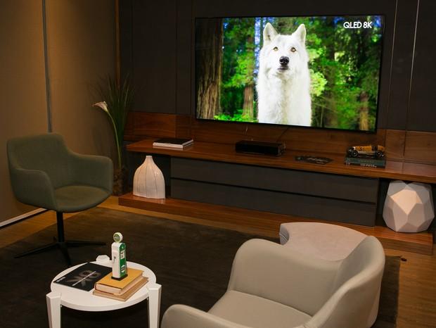 Samsung QLED 8K em um dos ambientes da Segatto  (Foto: Kenji Nakamura)