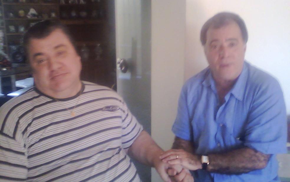 Gerson Brenner recebe a visita do ator Tony Ramos (Foto: Arquivo pessoal)