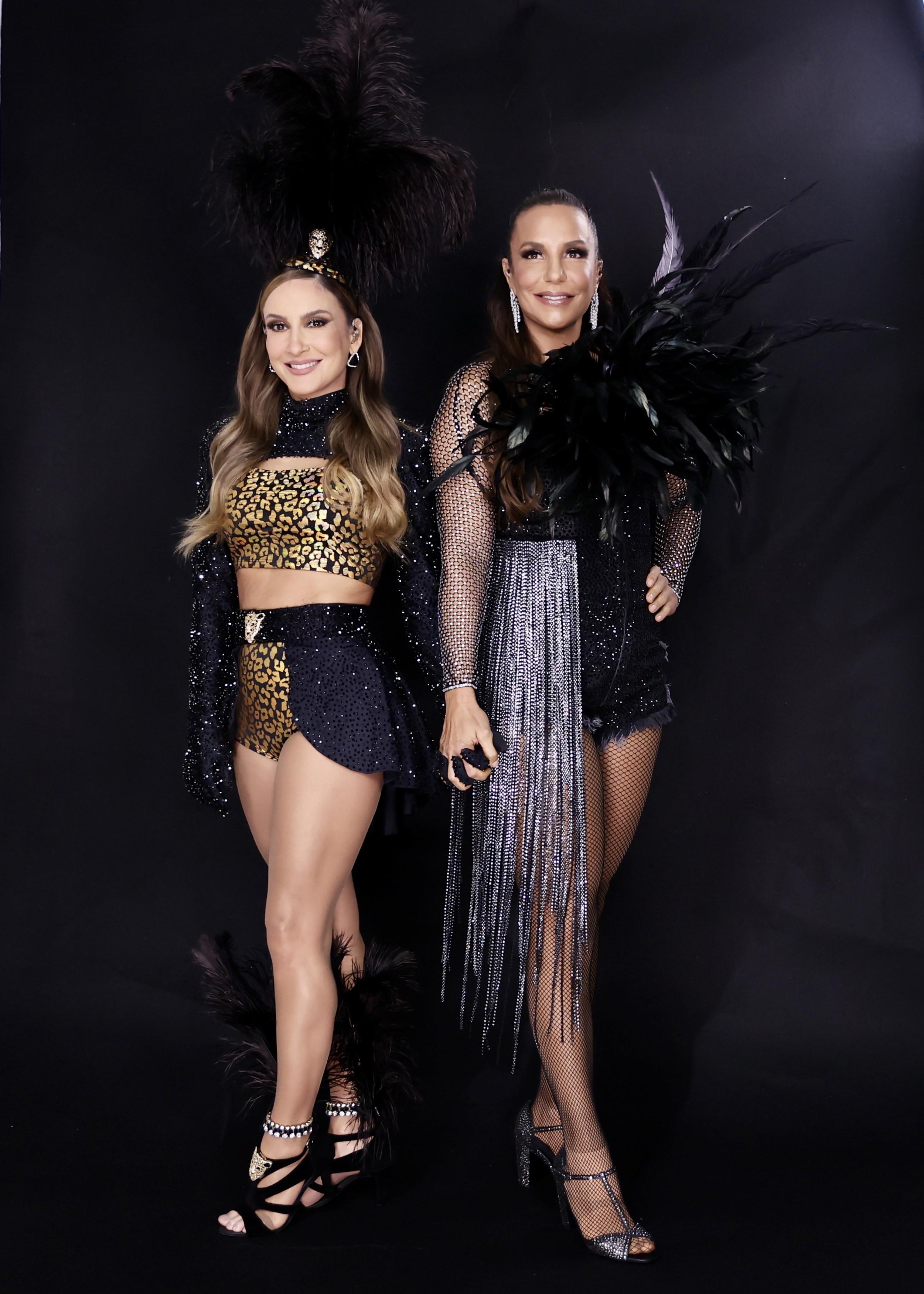 Claudia Leitte e Ivete Sangalo posam juntas para live de Carnaval (Foto: Manuela Scarpa/Brazil News)