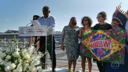 Jardim em homenagem a Marielle Franco é inaugurado em Paris