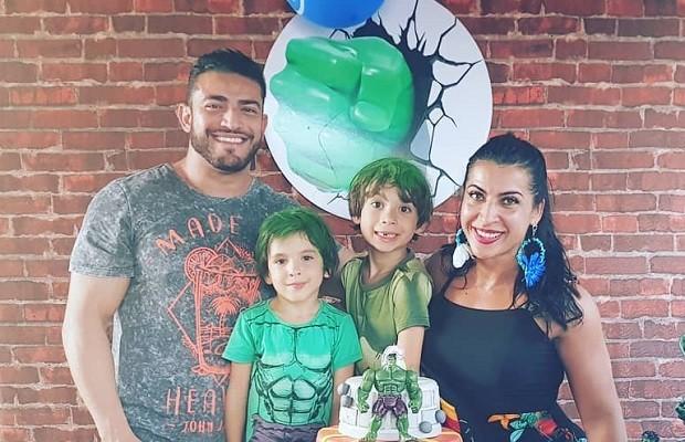 Priscila Pires comemora os 6 anos do filho Gabriel (Foto: Reprodução/Instagram)