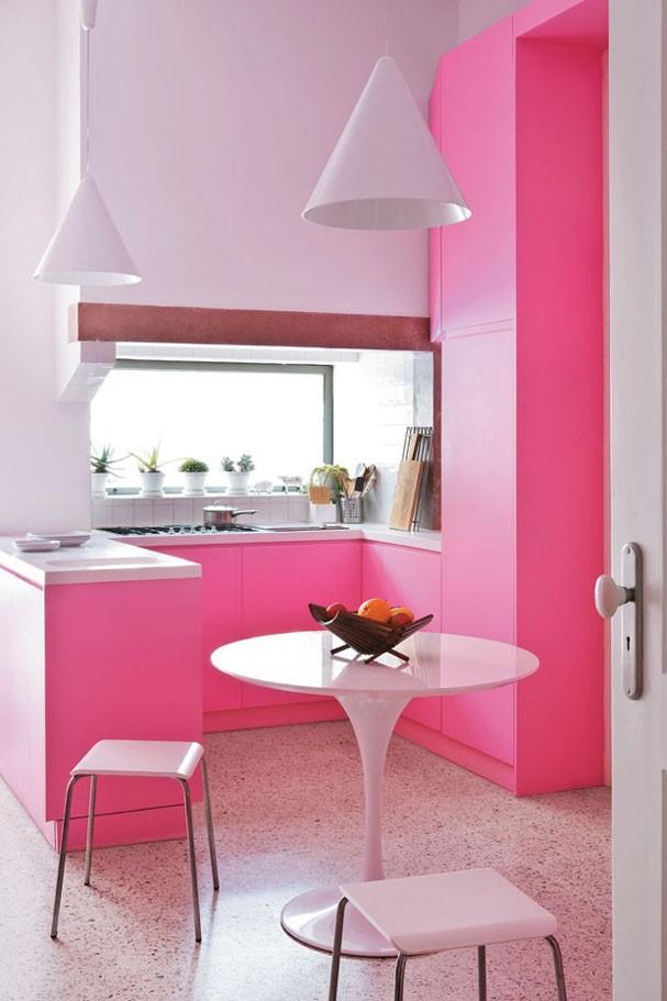 Cozinhas rosa (Foto: Divulgação)