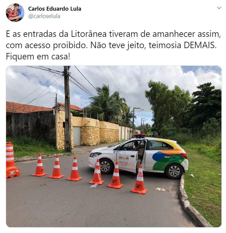 Acessos da Avenida Litorânea são fechados em São Luís