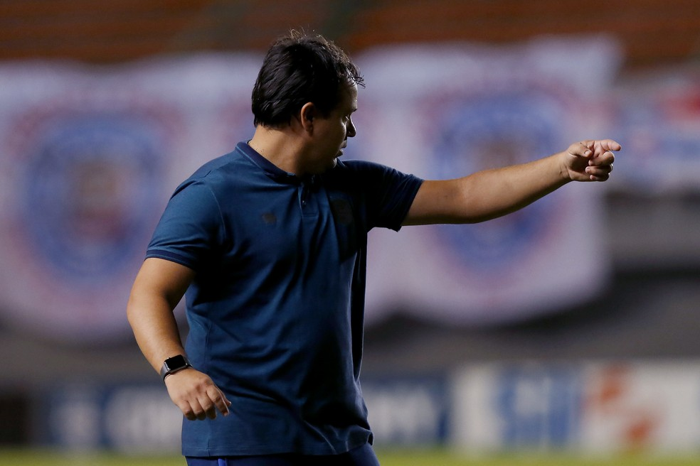Dado Cavalcanti, técnico do Bahia, em Bahia x Juventude — Foto: Felipe Oliveira/EC Bahia