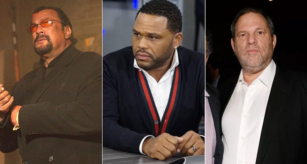 -  Steven Seagal em cena de   39;Code of honor  39;, Anthony Anderson em cena de   39;Black-ish  39; e Harvey Weinstein em estreia de   39;A estrada  39