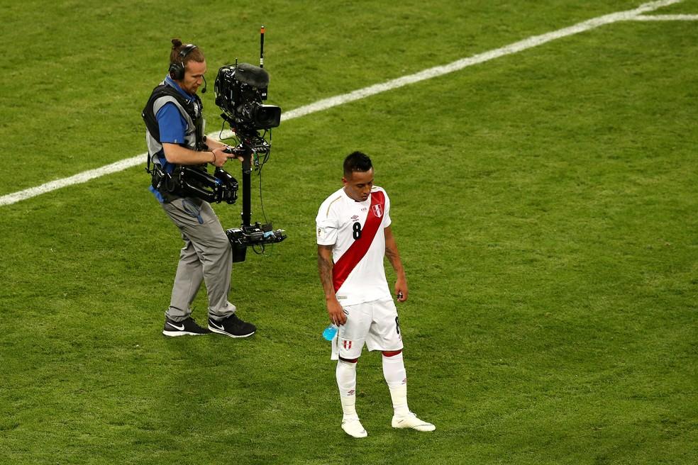 Cueva foi eliminado na primeira fase da Copa do Mundo com a seleção peruana (Foto: Jan Kruger/Getty Images)