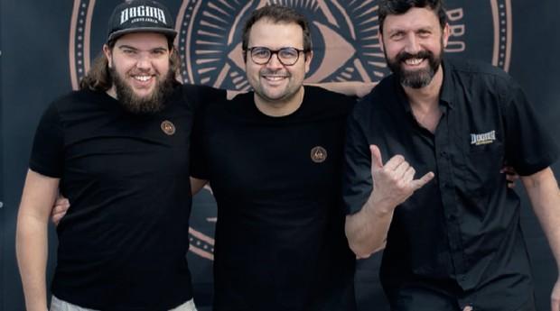 A partir da esq., Luciano Silva, Bruno Moreno e Leonardo Satt, que fundiram suas empresas na Dogma. A marca faturou cerca de R$ 6 milhões em 2018  (Foto: Divulgação)