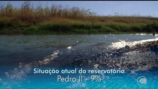 Seis barragens do Piauí estão com o nível de água abaixo dos 30%