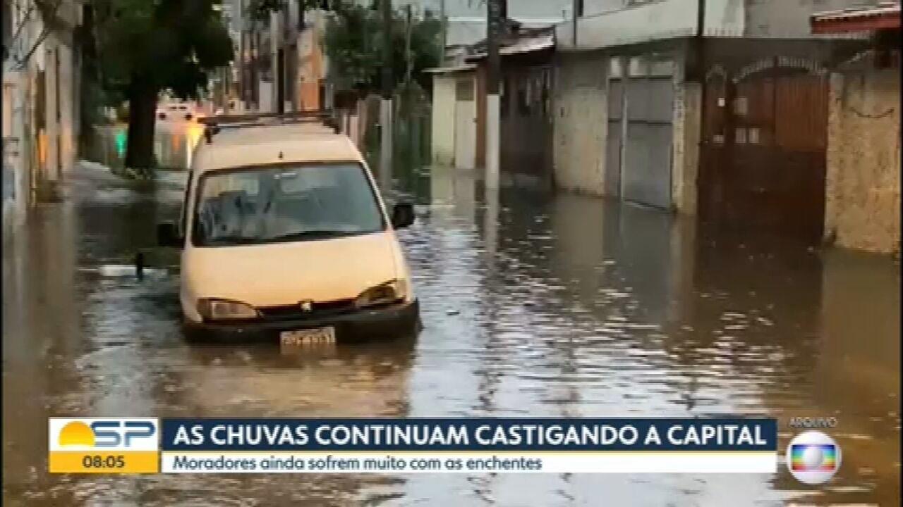 Fortes chuvas continuam castigando São Paulo