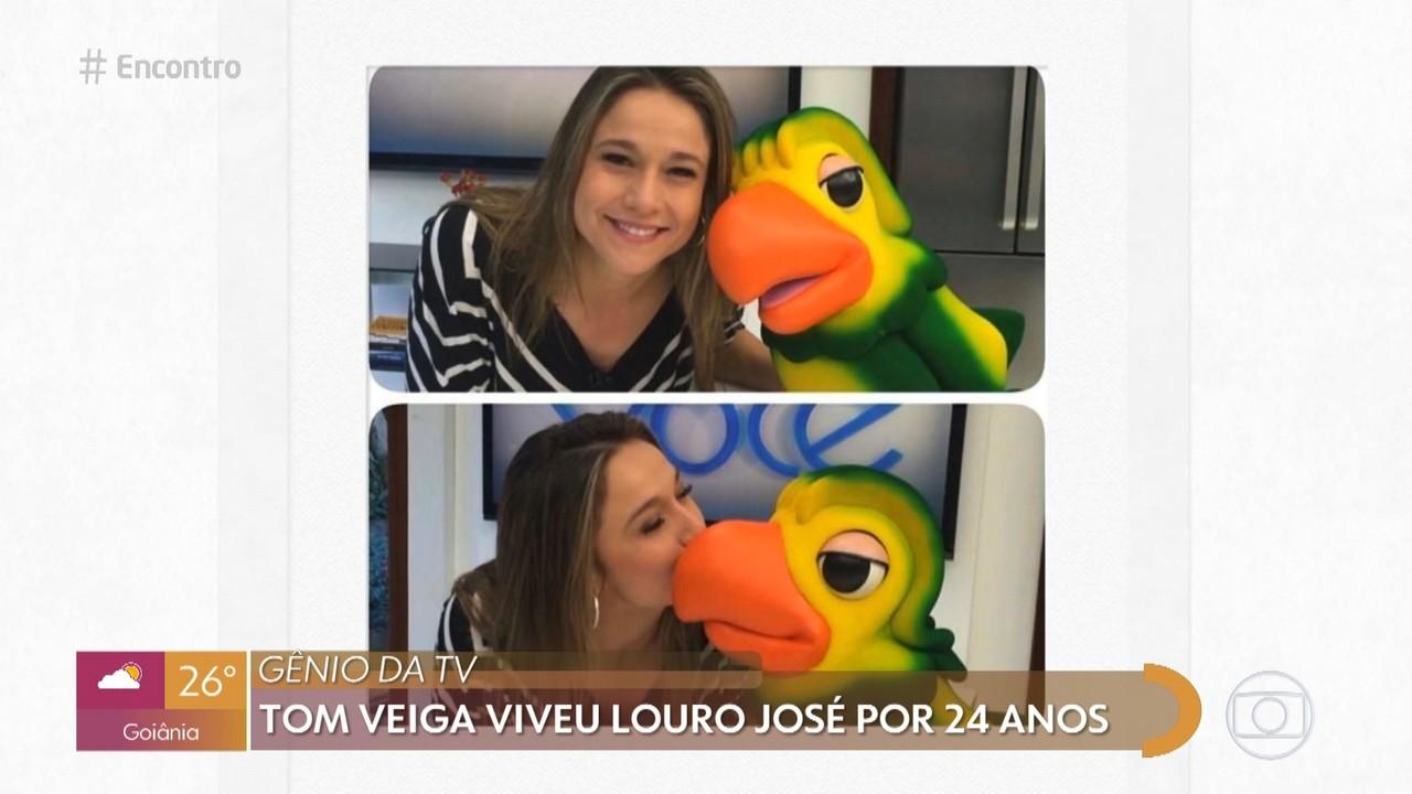 Fernanda e Curvello homenageiam Tom Veiga