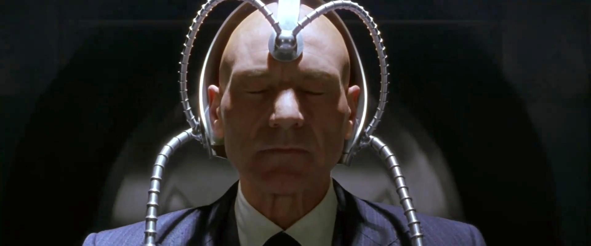 Professor Xavier usa o Cérebro em X Men. (Foto: Reprodução )