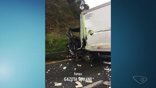 Acidente entre caminhões deixa feridos na BR-262, em Domingos Martins, ES