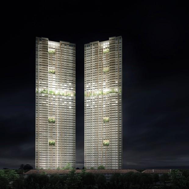 Projeto de 56 andares em Singapura será o edifício pré-fabricado mais alto do mundo  (Foto: Divulgação)