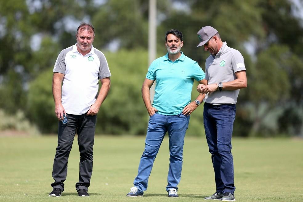 Maringá, Nivaldo e Rui Costa  (Foto: Sirli Freitas/Chapecoense)