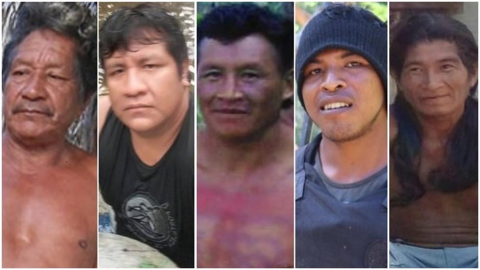 Cinco dos 35 indígenas assassinados no Maranhão entre 2009 e 2019 — Foto: CIMI