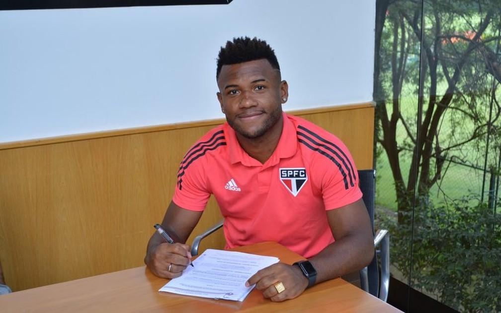 Luan renovou e agora quer um título pelo São Paulo — Foto: Fellipe Lucena / saopaulofc.net