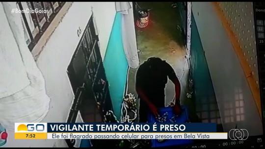 Vigilante penitenciário é preso suspeito de entregar celulares a presos; vídeo