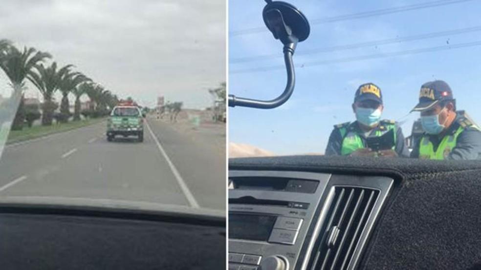Família conta que carro foi parado mais de 30 vezes no Peru — Foto: Arquivo Pessoal