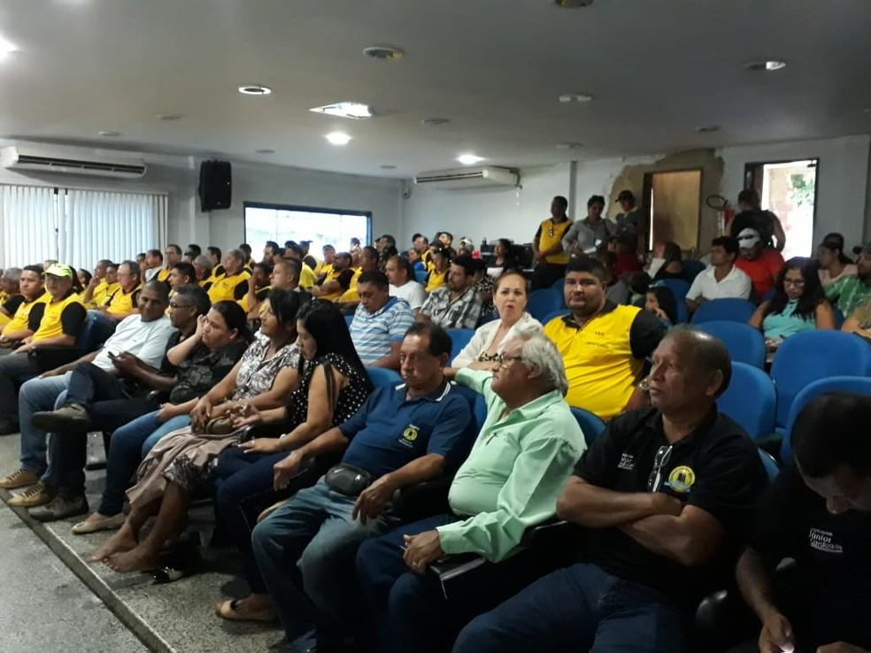 -  Audiência pública foi realizada na Câmara de Vereadores de Porto Velho  Foto: Pedro Bentes/ G1