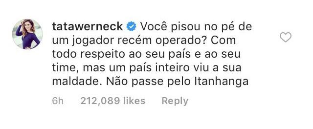 Tatá Werneck comenta pisão em Neymar (Foto: Reprodução / Instagram)